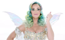 Katy Perry channels her inner Christmas fairy for H&M